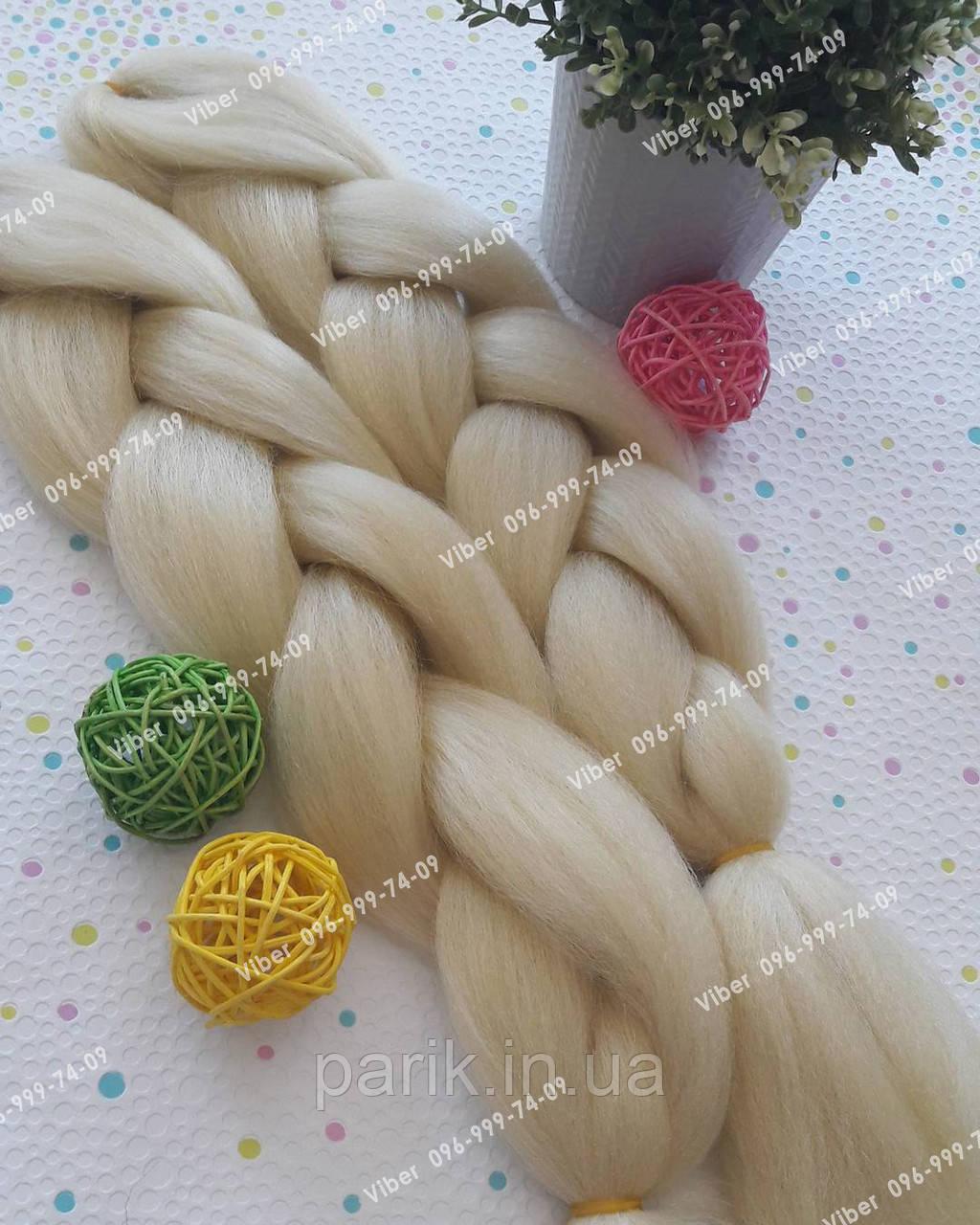 Однотонная коса канекалон блонд