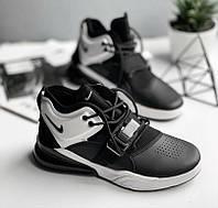 04125b9b8ae8 Nike Air Force 270 Black White   кроссовки мужские  черно-белые  весенние