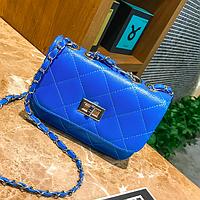 Сумка женская клатч через плечо в стиле mini Синий, фото 1