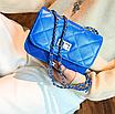 Сумка женская клатч через плечо в стиле mini Синий, фото 2