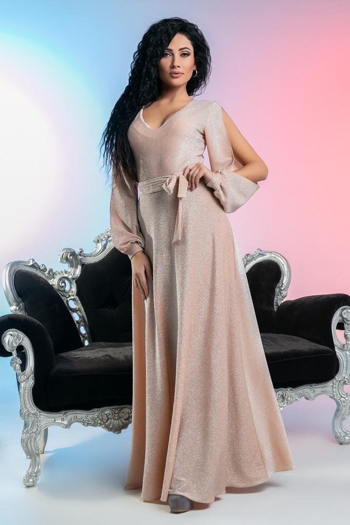 07a1c6e1e09 Длинное платье для торжеств с необычными рукавами - Интернет-магазин