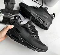 9fc37f4e Nike Air Max 90 Mid Winter Black   мужские кроссовки; черные;  осенние/весенние