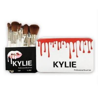 Набор кистей Kylie в металлическом футляре (12 штук)