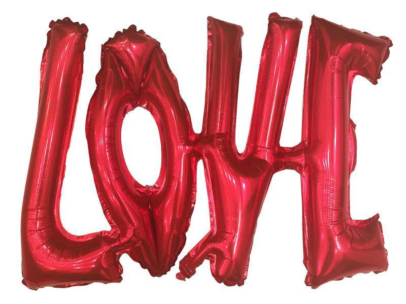 Фольгированный шарик LOVE красный