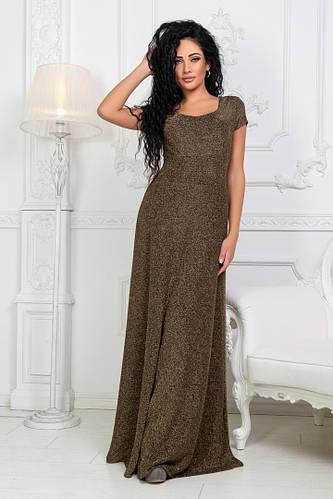 65f26d94b4f Женское длинное платье из люрексовой ткани с коротким рукавом   продажа