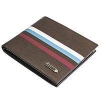 ✓Стильный мужской кошелек Show You K08 Коричневый для кредитных карточек денег визиток удобный
