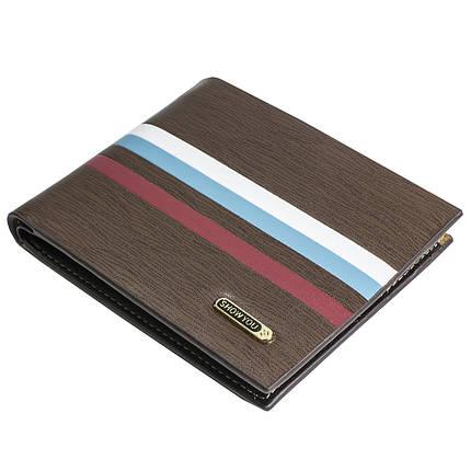 075bc9e6274b ✓Стильный мужской кошелек Show You K08 Коричневый для кредитных карточек  денег визиток удобный, фото