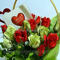 Подарочный букет с игрушкой на День влюбленных, фото 3