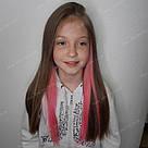 Цветные пряди волос на заколках 💗(Лилово розовые), фото 3