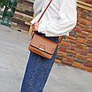 Сумка женская клатч через плечо Jessica Светло коричневый, фото 3