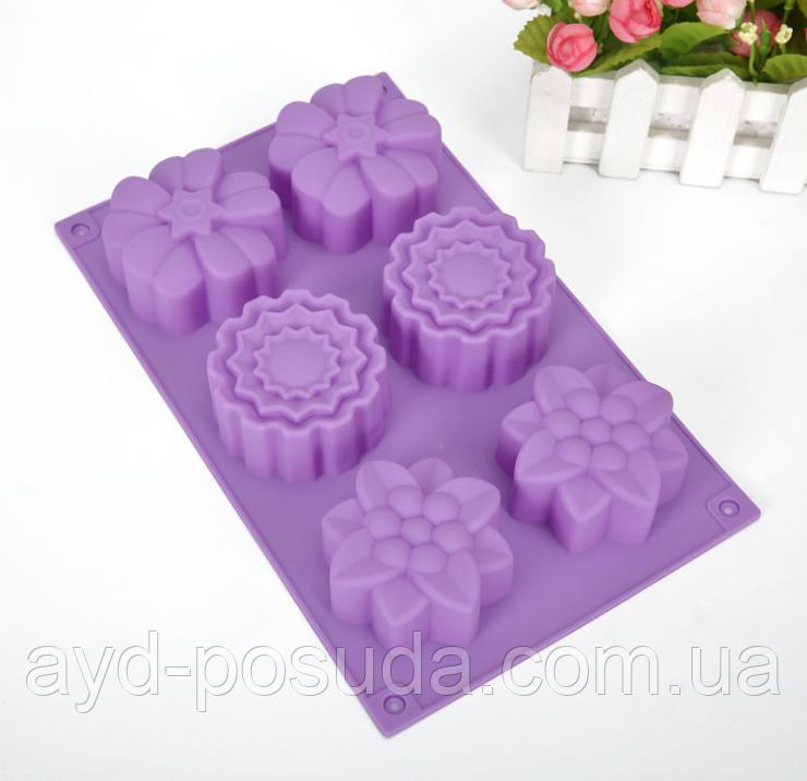 """Силіконова форма для випічки кексів """"Квіти"""" СК10-084 арт. 822-10-3"""