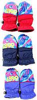 Непромокаемые перчатки-варежки для мальчиков FCB 2/3 и 4/5 лет