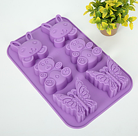Силиконовая форма для выпечки кексов YH-161 арт. 822-15A-1, фото 1