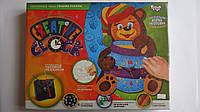 """Набор для творчества """"Креативные часы.Медвежонок"""" по номерам Danko toys.Настенные часы своими руками декориров"""