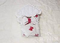 Конверт-одеяло для новорождённых из  норки синкрустацией