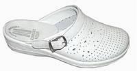 Обувь медицинская - белые сабо кожаные