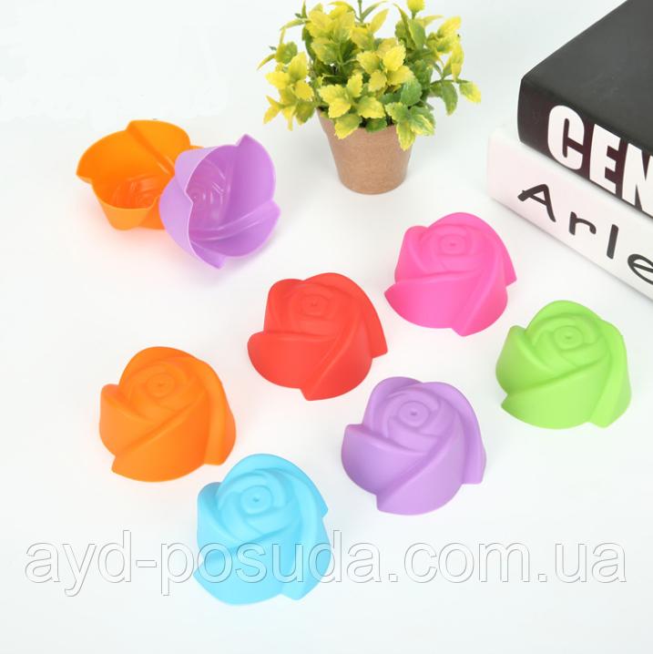Набор силиконовых форм для выпечки кексов YH-025 арт. 822-15A-3