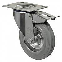 """Колесо поворотне серія 21 """"Norma"""" з кріпильною панеллю та гальмом, роликовий підшипник, діаметр-125мм"""