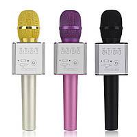 Беспроводной Bluetooth караоке микрофон Q9 черный.Николаев