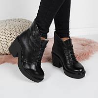 Женские  зимние  ботинки  натуральная  кожа, фото 1