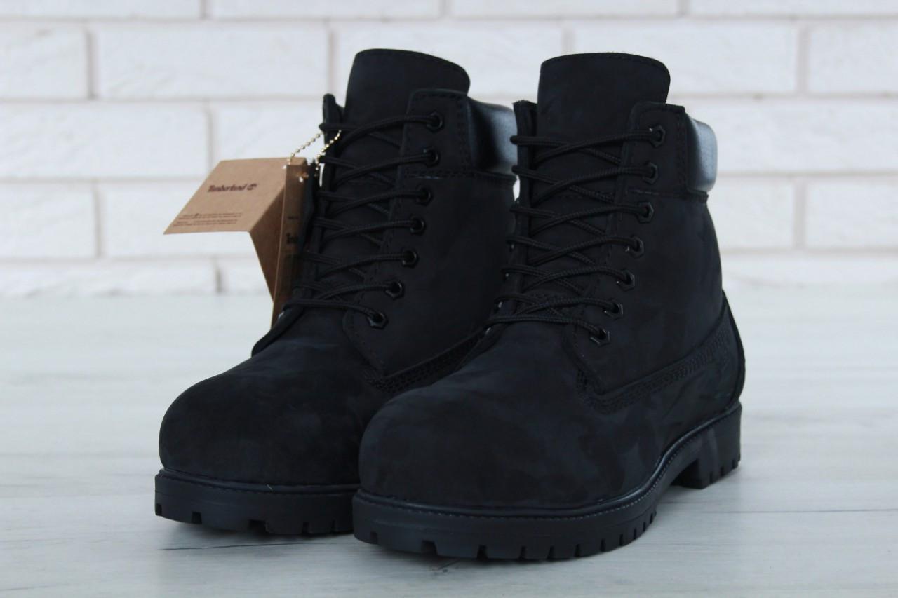 01b7222d8c9 Мужские зимние ботинки Timberland черные с мехом