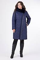 Зимнее стеганое пальто с втачным капюшоном