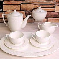 Набір: Кавова чашка 90мл і блюдце 6 пар Wilmax від Юлії Висоцької WL-880107-JV