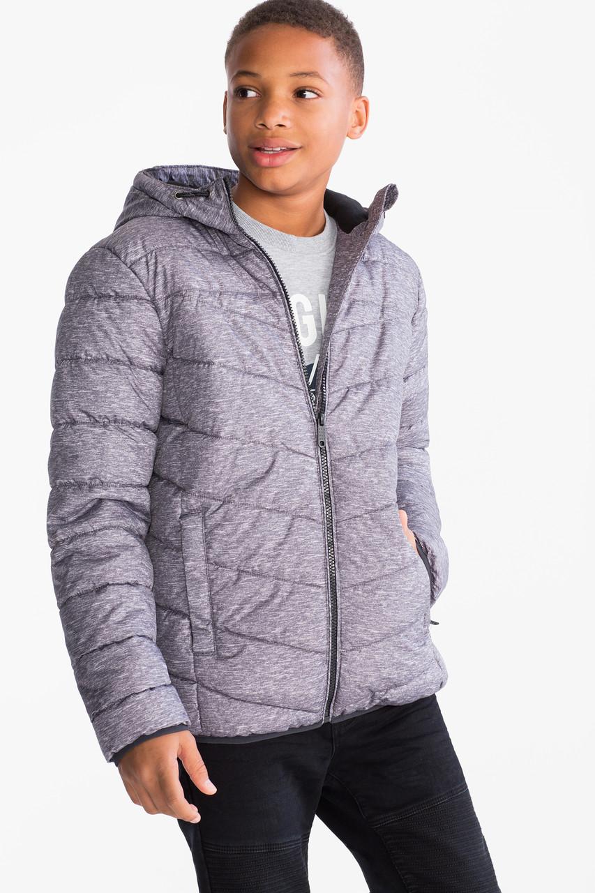 Серая куртка деми для мальчика 8-10 лет C&A Германия Размер 140