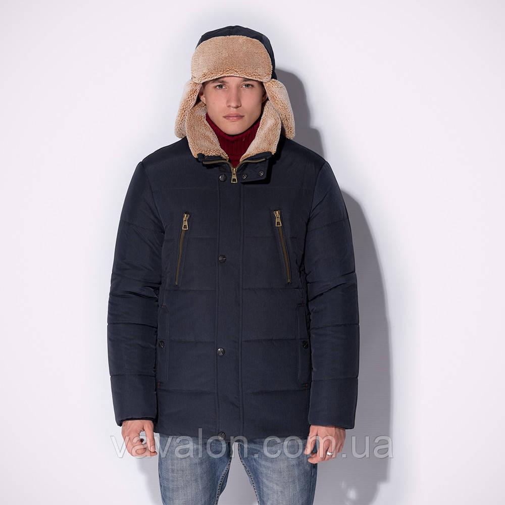 Удлиненная зимняя мужская куртка