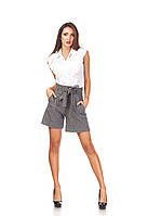 Женские стильные шорты с завышенной талией. Ш016