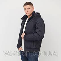 Куртка демисезонная под резинку Vavalon KD-182 navy, фото 3