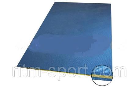 Мат для фитнеса Пенополиэтилен 25мм C-3749 (р-р 1,4 м *1,0 м *2,5 см, синий-желтый-синий), фото 2