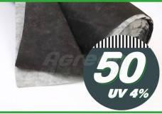 Агроволокно 50 плотность черно-белое без перфорации