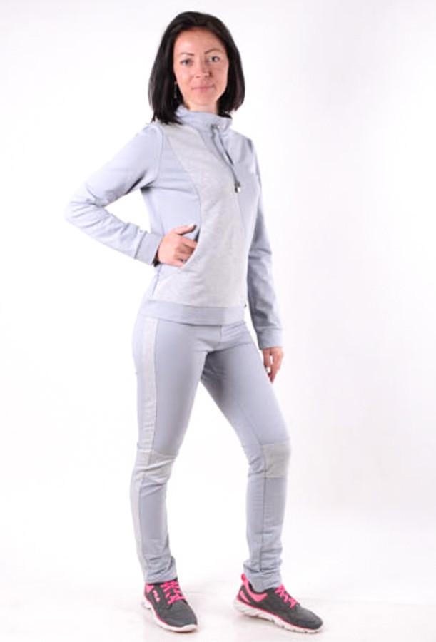 Женский спортивый костюм  с лампасами Голубой размер 40-46