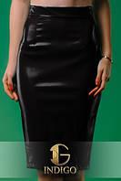 Женская юбка из стрейч-кожи в 5 расцветках