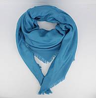 Большой кашемировый платок Louis Vuitton 7988-16 голубой двусторонний, расцветки, фото 1