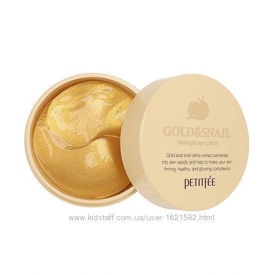 Омолаживающие гидрогелевые патчи Gold & Snail Petitfee