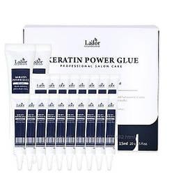 Кератиновая сироватка-клей для посічених кінчиків Lador Keratin Power Glue