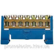 Шина нульова з кріпленням на Din-рейку (на 7 отворів)