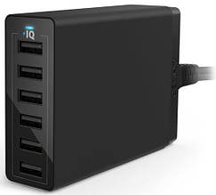 Cетевая зарядка Anker PowerPort 6 60W 6-port V3 Black