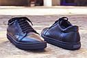 Кеды кожаные мужские черные размер 40, 41, 42, 43, 44, 45, фото 4