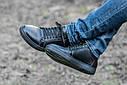 Кеды кожаные мужские черные размер 40, 41, 42, 43, 44, 45, фото 2