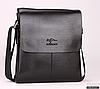 Мужская сумка барсетка Bandicoot натуральная кожа Большая Черный