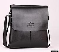 Мужская сумка барсетка Bandicoot натуральная кожа Большая Черный, фото 1