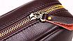 Мужская сумка барсетка кожа Polo Feidika среднего размера Коричневый, фото 3