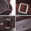 Мужская сумка барсетка кожа Polo Feidika среднего размера Коричневый, фото 4