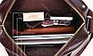 Мужская сумка барсетка кожа Polo Feidika среднего размера Коричневый, фото 5