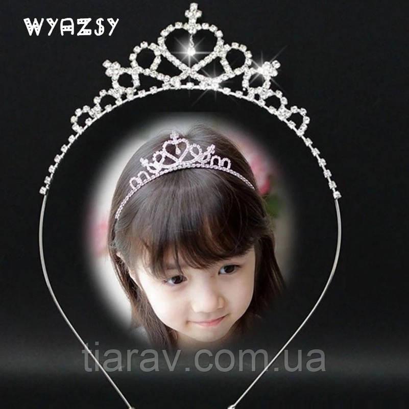 Диадема корона МИШЕЛЬ, детская диадема на обруче