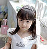Диадема детская МИШЕЛЬ, корона для волос диадемы, детские аксессуары, фото 4