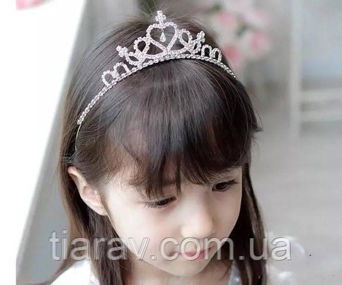 Диадема детская МИШЕЛЬ, корона для волос диадемы, детские аксессуары